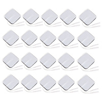 20pcs Pack Professional Massage Machine Replacement Pad For Massager Stick Tens Units Electrodes Pads 5 5cm
