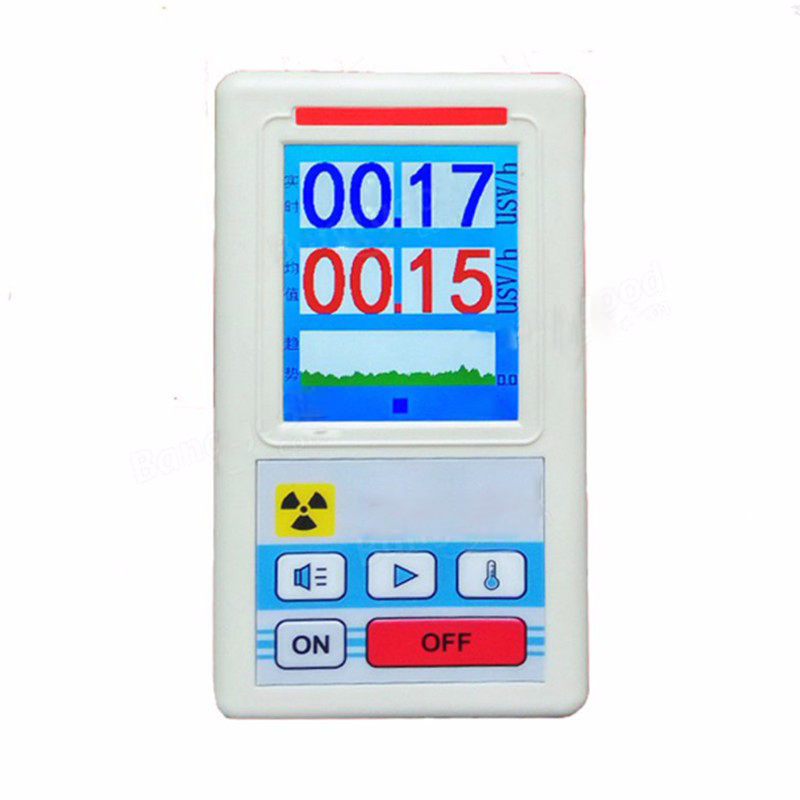 лучшая цена Personal Dosimeter Marble Detector Counter Nuclear Electromagnet Radiation Detector Nuclear Radiation Tester with Display Screen