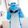 S-xl de franela Monster adultos onesies pijamas animal de la historieta pijamas Unisex pijamas, ropa de dormir, ropa fiesta
