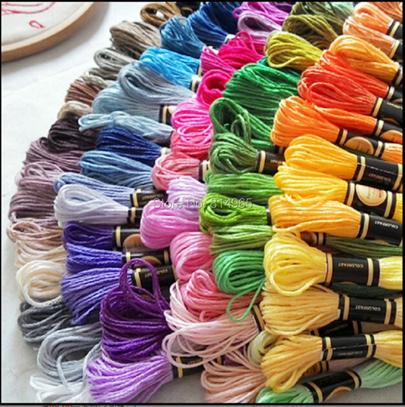 Choose Any Colors 1000pcs lot Cross Stitch Embroidery Floss Thread Yarn Similar With DMC Floss