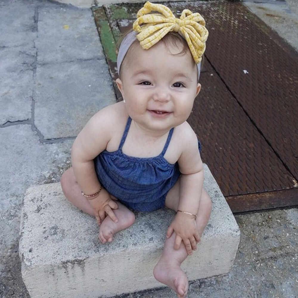 1Pc อุปกรณ์เสริมสำหรับเด็กทารกเด็กวัยหัดเดินเด็กทารก Bowknot Headband ยืด Hairband Headwear คริสต์มาส