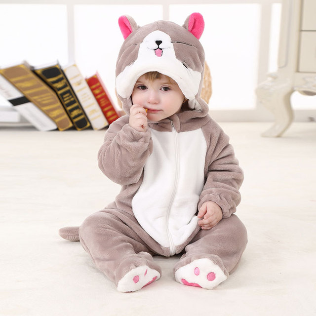 8a96f087b2a5 Baby Animal Cute Cat Kigurumi Pajamas Clothing Newborn Anime Infant Romper  Onesies Cosplay Costume Outfit Hooded Kid Jumpsuit