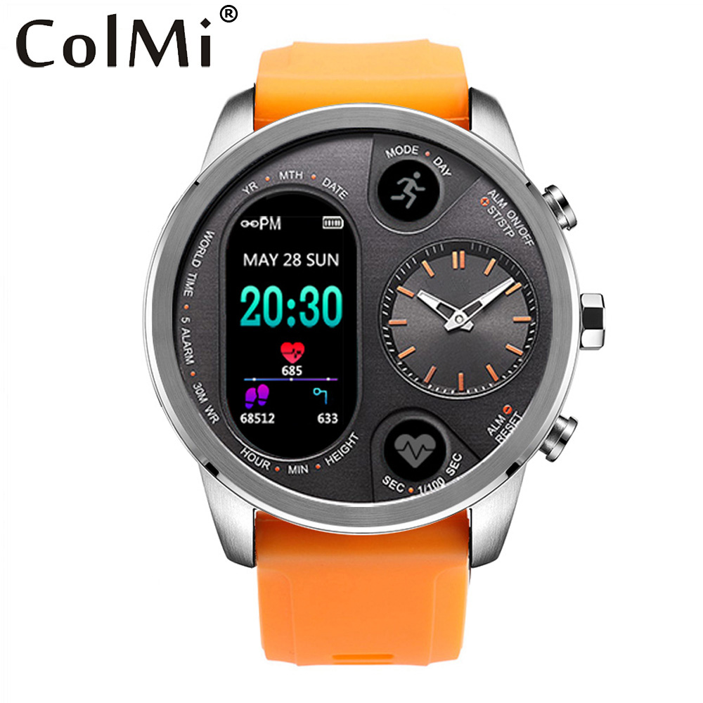 COLMI T3 Sport Hybrid Smart Watch Standby 15 Days Stainless Steel Fitness Activity Tracker IP68 Waterproof BRIM Smartwatch Men colmi v11 smart watch ip67 waterproof tempered glass activity fitness tracker heart rate monitor brim men women smartwatch