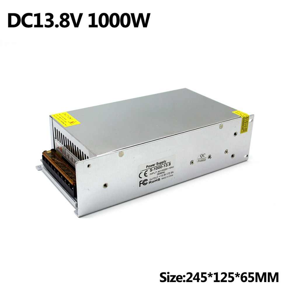 13.8 V 72.5A 1000 W Transformer 110 V 220 V AC Ke DC Single Output Adjustable Power Supply untuk Kamera peralatan Router CCTV Repeater