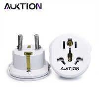 AUKTION 5 Pcs/Lot 16A universel EU (Europe) convertisseur adaptateur 250V AC chargeur de voyage prise de courant murale adaptateur pour US UK AU