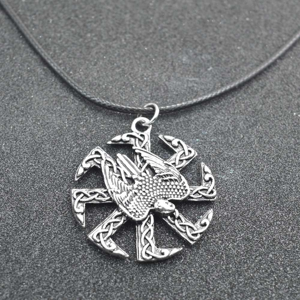 Daisies 1pcs Valkyrie Statement Jewelry Pagan Amulet Slavic Symbol Warrior Talisman Norse Occult Eagle Pendant Necklace