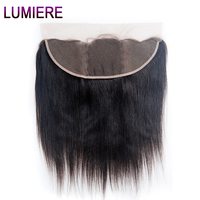 Lumiere Hair Peruvian Straight Hair Lace Frontal 13x4 Ear To Ear Lace Closure With Baby Hair Remy Human Hair Free Part 8