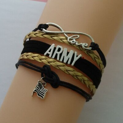 New Fashion Infinity Love American Presidential Election Army Any Color Custom Made Leather Bracelet Wrap Bracelets Bangles In Charm From