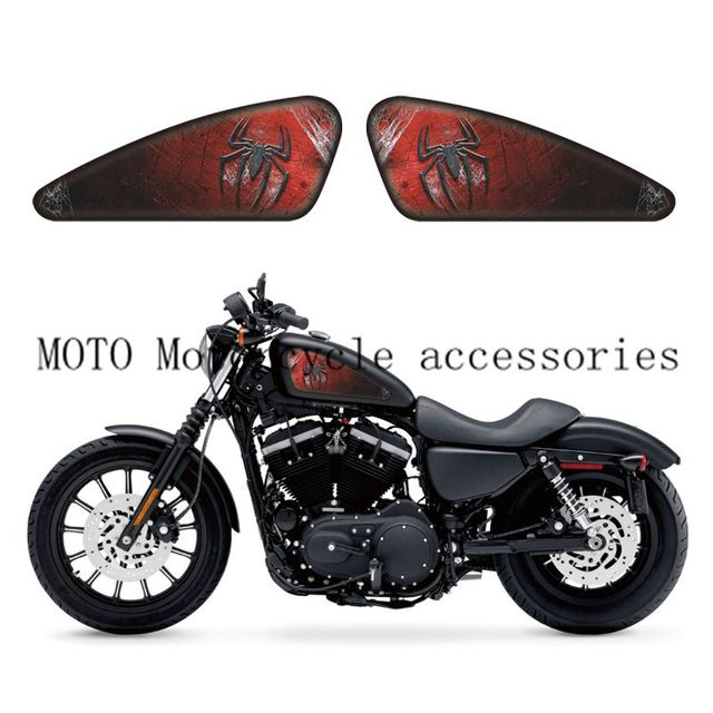 Motorcycle Spider Logo Graphics Fuel Tank Decals Stickers For - Vinyl stripes for motorcyclespopular motorcycle tank stripesbuy cheap motorcycle tank stripes