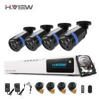 H View 1080P CCTV Security Camera System HDMI 8CH DVR CCTV System 4 PCS IR Outdoor