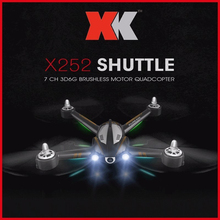 XK X252 5.8G Real-time Transmission FPV RC Quadcopter With 720P Wide-Angle HD Camera & Brushless Motor 3D 6G Mode RTF xk x300 5 8g hd 720p fpv quacopter rtf white