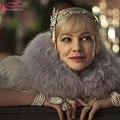 Real Photo Lindo Cristal De Noiva chapéus acessórios para o cabelo Boêmio Das Mulheres formal Elegante Oscar Estrela Gatsby Coroa Barato Z920