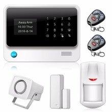 WifiHome Alarm Bezprzewodowy System Alarmowy SMS Alert system alarmowy Czujnik PIR Biały Syren