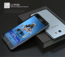 Роскошный изысканный Резка Алюминий металлический бампер для Samsung Galaxy J7 2016 J710 оригинальный бренд телефон Чехол бампер Интимные аксессуары