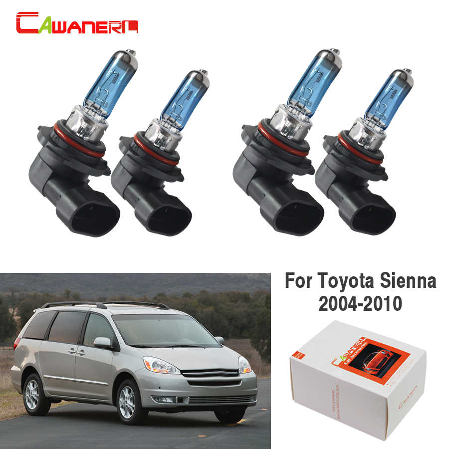 Cawanerl 2 Pair 100W 9005 9006 Car Styling Halogen Bulb Headlight Light For Toyota Sienna 2004-2010