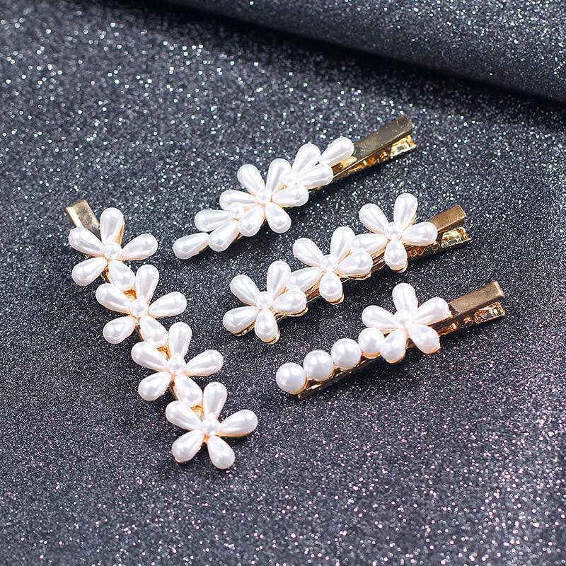 1pc Hair Clips For Women Hairpin Pearl Clip Haikazi Portrait Set Hair Accessories Word Clip Top Clip Jewelry Headdress G0730