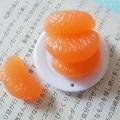 20 pcs orange plástico simulação de frutas em miniatura artesanato diy mini modelo de alimentos imitação falso orange fatias doces deco acessório