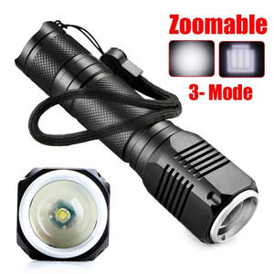 LED Flashlight Led-Torch 1000 Lumen Waterproof Zoomable 7W 3-Modes Biking