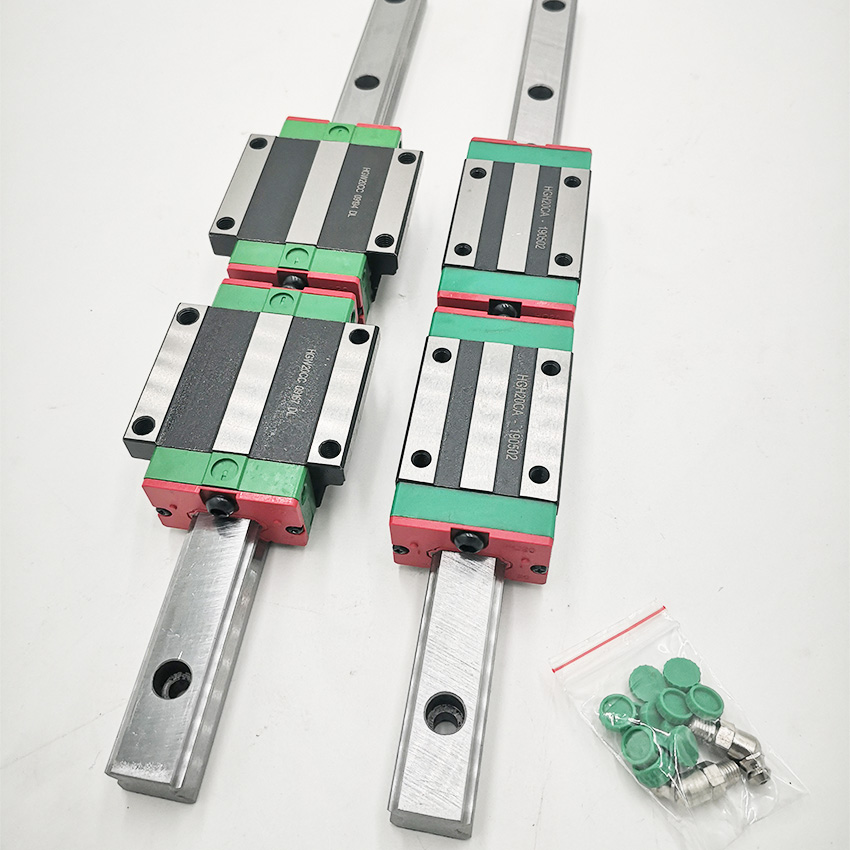 HGR25 Linear Guide 25mm 2pc Linear Guide Rail Any Length+ 4pc Linear Carriage HGH25CA Or HGW25CC CNC Parts