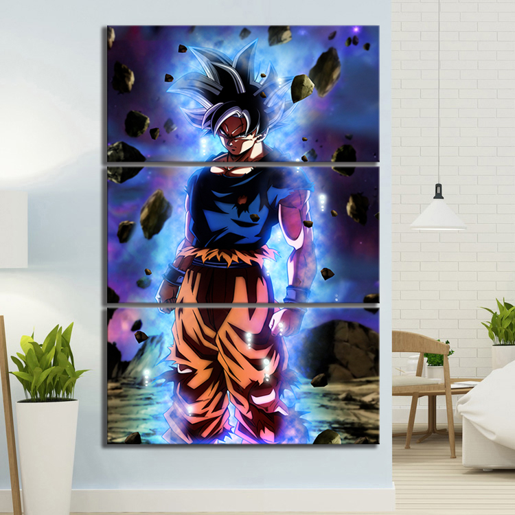 Anime Paintings for Wall Decor 3 Piece Mastered Ultra Instinct Goku Dragon Ball Super Anime Poster Wall Art 4