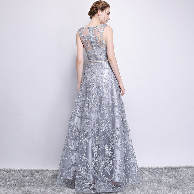 Elegant Evening Dress Long A Line See Though Back Formal Dresses Women Occasion Party Dresses with Belt New
