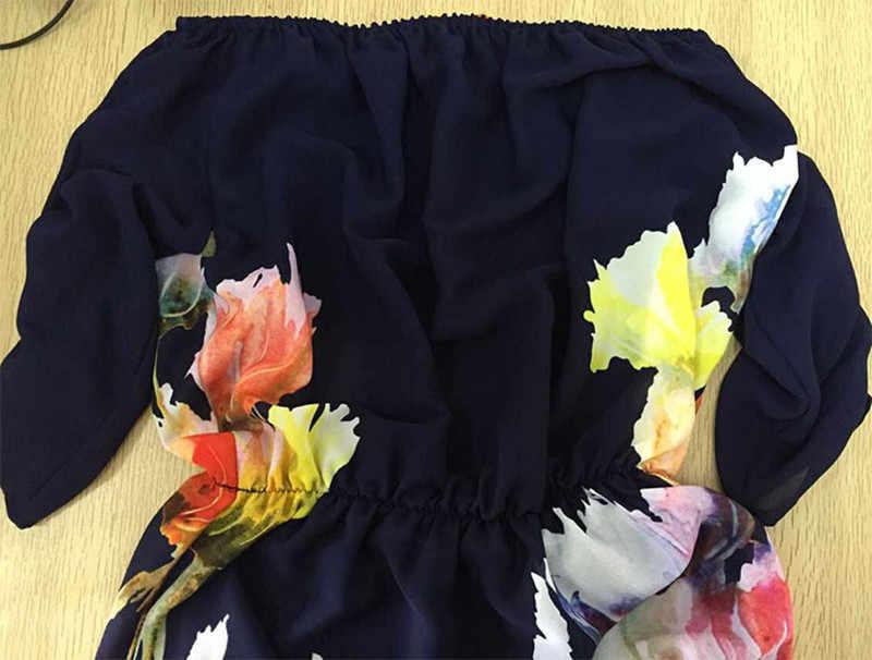 a51f5020df2f ... Liva Girl Off Shoulder Summer Maxi Beach Dress Plus Size Women Tunic  Casual Long Boho Dress