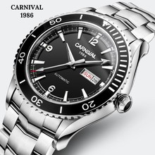 Carnival Japan Imported Movement Mechanical Watches Sapphire Mirror Full Steel Watch Men Diving 50M Luxury Brand Automatic Watch loreo mechanical watch men 50m diving luxury brand men watches tourbillon skeleton wrist sapphire automatic watch waterproof