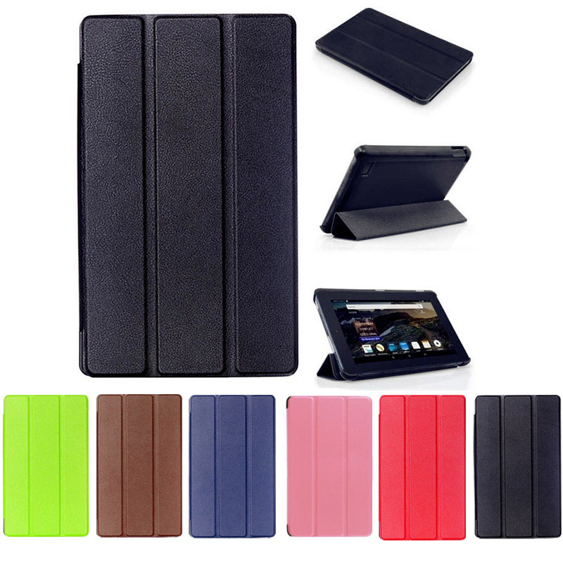 цена на Ultra Slim Leather Cases Stand Cover for Amazon Kindle Fire HD7 2015 DJA99