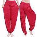 Yoga pantalones de las mujeres más el tamaño colorido bloomers danza yoga taichi pantalones largos suave ninguì n encogimiento antiestático pantalones envío rápido