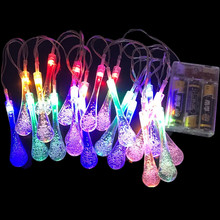 2M luces led decoracion String Lights 20pcs Waterdrop Fairy Garland For Wedding Christmas Party Festival Outdoor Lighting