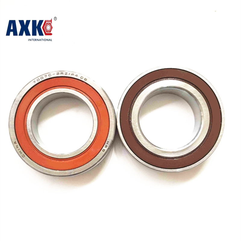 купить 1pair 7002 H7002C 2RZ P4 HQ1 DT L 15x32x9 Sealed Angular Contact Bearings Speed Spindle Bearings CNC ABEC-7 SI3N4 Ceramic Ball по цене 3229.88 рублей