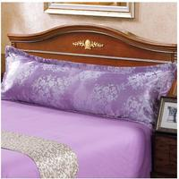 New double pillowcase satin jacquard m 1.8/1.2/1.5 meters long lovers wedding ice silk extended pillowcase Free shipping