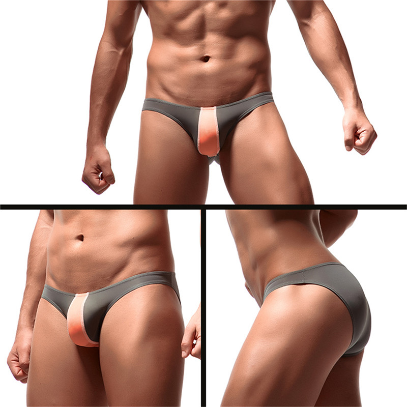 1/8pcs Mens Underwear Sexy Boxer Briefs Breathable Underpants Mens Bikini Briefs Penis Bulge Ice Silk Panties Male Gay Swimwear(China)
