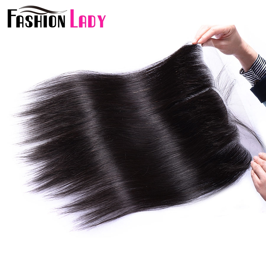 FASHION LADY Human Hair 13x4 Inch Remy Lace Frontal Closure Straight Frontal Closure 12-22inch