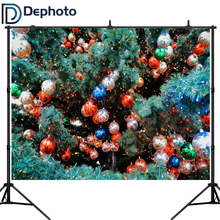 Dephoto Photography Background Christmas Balls Backdrop New Year For A Photo Shoot Photographic Camera