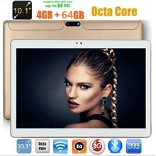 10 inch 3G phone tablet Android 7.0 Octa Core 4GB RAM 64G ROM dual sim card dual cameras 1280x800 Bluetooth WIFI Tablets
