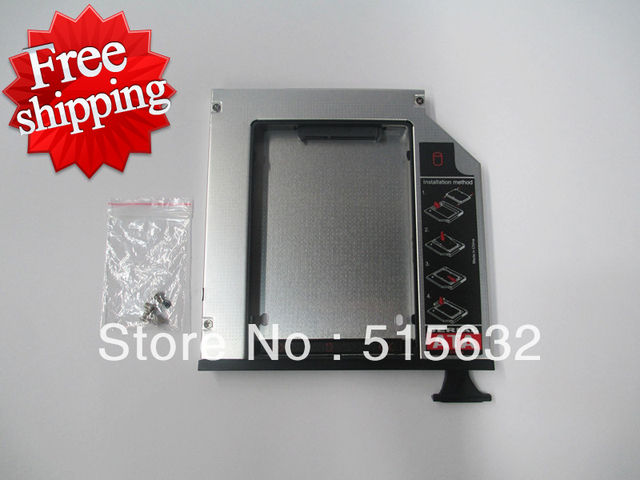 New fully Aluminum SATA 2nd HDD caddy adapter for DELL E Series Latitude E6400 E6500 9.5mm