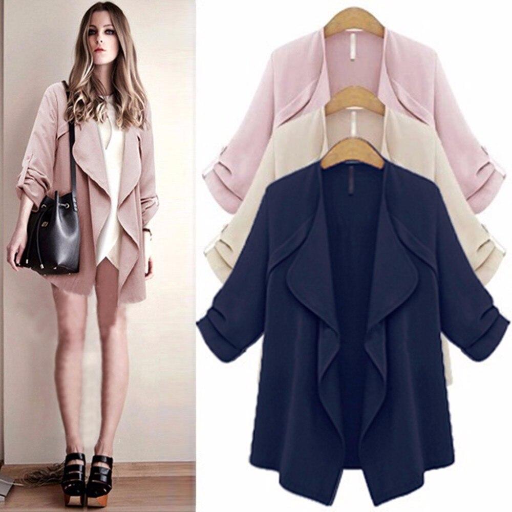 Plus size Jacket Women Fashion Jackets Jacket female coat Women's Open stitch Outwear Autumn New befree large size coats 2