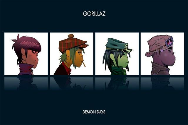 Custom Canvas Art Gorillaz Poster Gorillaz Music Band Wall Stickers Noodle Wallpaper Demon Days Mural 2D Home Decoration #2837#
