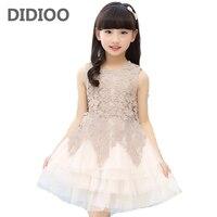 Girls Dresses Summer 2016 A Line Girl Princess Dress High Quality Cotton Children Clothing Patchwork Lace