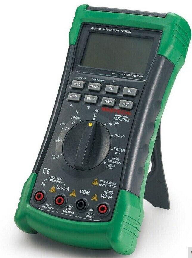 MASTECH MS5208 6600 compte testeur d'isolation multimètre numérique véritable RMS compteur de température de courant de tension ca - 2
