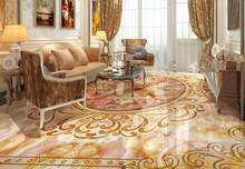 luxury 3d flooring Marble pattern stone 3d wallpaper 3d pvc flooring wallpaper for walls 3 d Decorative paintings(China)