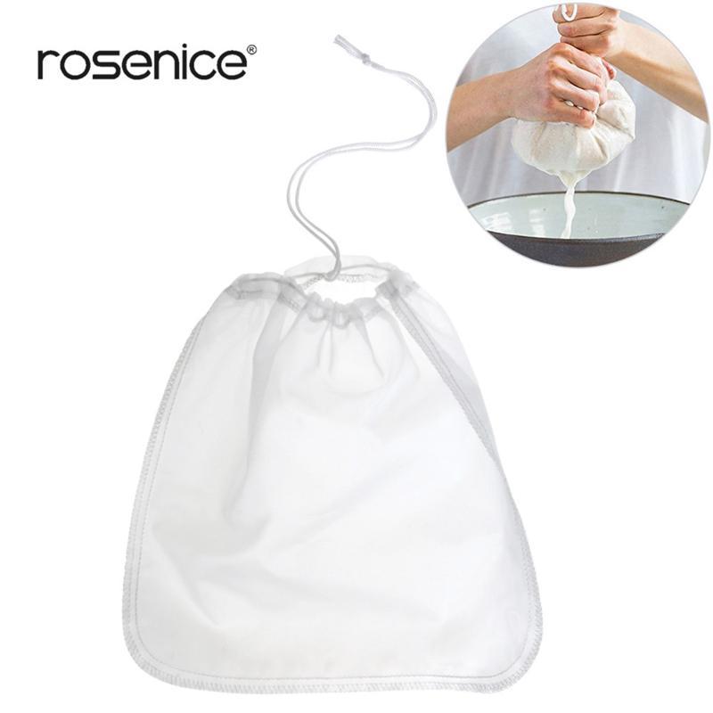 Us 2 88 50 Off Reusable Coffee Filter Nylon Mesh Food Strainer Tea Infuser Nut Milk Bag Grade Fine Cheese Maker In