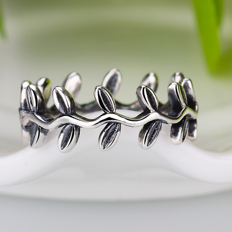 b0de532a3 New Collection Authentic Laurel Wreath Laurel Leaves Pandora Ring Plated  Silver Weeding Rings for Woman Jewelry-in Rings from Jewelry & Accessories  on ...