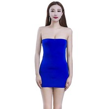 39a76233604 Sexy Lingerie Sheer Opaque Stretching Strapless Bandeau Tube Short Mini  Dress Stretchy Bodycon Fantasy Clubwear Multiple