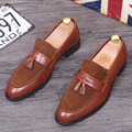 Tidog British men's leather shoes casual shoes men's fashion shoes men tassel loafer shoes