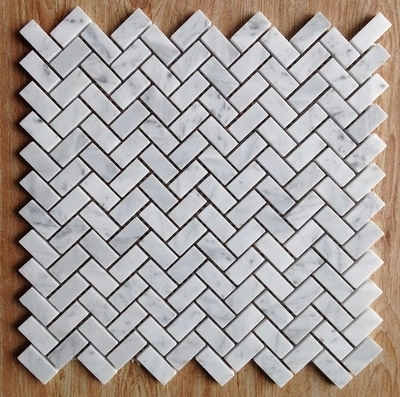Fish Bone Shaped Carrara White Marble Mosaic Tiles Backsplash Kitchen Wall Tile Sticker Bathroom Floor Free Shipping In Wallpapers From Home