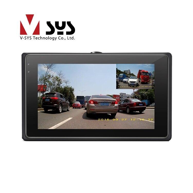 imágenes para Mar 2017 hottest Vsys Motocicleta dvr X2 con doble real 1080 P impermeable lente dual apoyo GPS tracker y alambre control