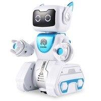 New Arrive Children Intelligent RC Robot Toy Fingerprint Hydro electric Hybrid Power Smart Robot for Kids Birthday Gift