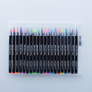 Image 3 - Акварельные ручки 20 цветов, художественные маркеры для школьных принадлежностей, канцелярские принадлежности для рисования, раскрашивания, манги, комиксов, каллиграфии